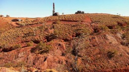 A drill site at Novo Resources' Beatons Creek gold project in Australia's Pilbara region. Credit: Novo Resources