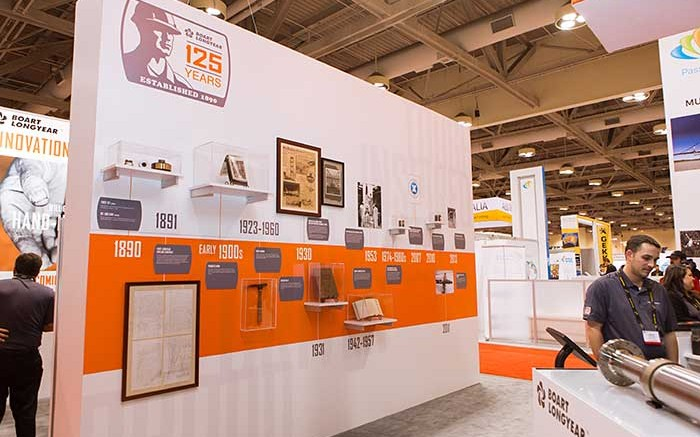 Historic items from Boart Longyear's 125-year history on display during the Prospectors & Developers Association of Canada convention earlier this month in Toronto. Credit: Boart Longyear