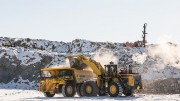 A haul truck receives a load at Mountain Province Diamonds' Gahcho Ku diamond project in the Northwest Territories. Source: Mountain Province Diamonds