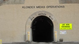 A portal at Klondex Mines' Midas gold-silver mine in Nevada. Source: Klondex Mines