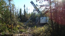 A drill site at Zenyatta Ventures' Albany graphite project in Ontario. Credit: Zenyatta Ventures