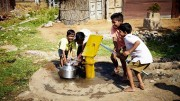Atlas Copco's Water for All organization sponsors clean drinking water projects around the world, including this village project in India. Credit: Atlas Copco