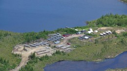 The camp at Eastmain Resources' Clearwater gold project in Quebec's James Bay region. Credit: Eastmain Resources
