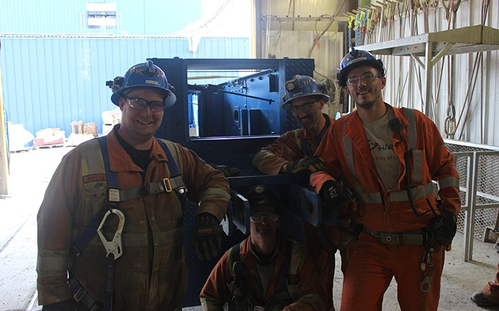 Workers at Rubicon Minerals' Phoenix gold project in Red Lake, Ontario. Franco Nevada owns a 2% NSR royalty on the project, which is set to start production this year.  Credit: Rubicon Minerals