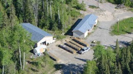 An aerial view of the core shack at Zenyatta Ventures' Albany graphite project in northern Ontario. Source: Zenyatta Ventures