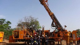 Drillers at Avnel Gold Mining's Kalana gold project in southwest Mali. Source: Avnel Gold Mining