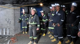 Marcelin Bruneau teaching a mine safety course. Credit: Cree Human Resources Development