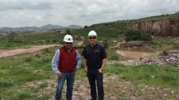 Canarc Resources project manager Louis Garcia (left) and CEO Catalin Chilosflischi at the El Compas gold-silver project in Zacatecas, Mexico. Source: Canarc Resources