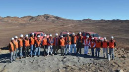 Capstone Mining's project team at its 70%-owned Santo Domingo copper-iron project in Chile's Atacama region.  Source: Capstone Mining