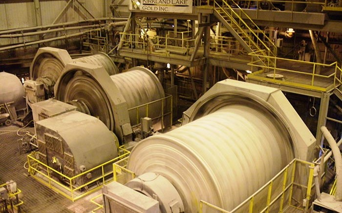 Mills spinning at Kirkland Lake Gold's Macassa gold mine in Ontario. Source: Kirkland Lake Gold