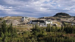 Imperial Metals' Mount Polley copper-gold project, which has been on care and maintenance since last August's tailings spill at the site. Source: Imperial Metals