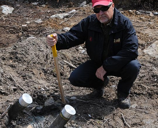 Harte Gold president and CEO Stephen G. Roman at the Sugar Zone gold project in Ontario.  Source: Harte Gold