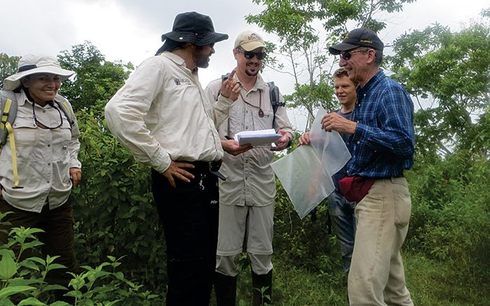 Marc Cianci (third from left), Calibre Mining's senior project geologist, with colleagues at the Eastern Borosi gold project in Nicaragua. Source: Calibre Mining