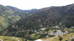Looking northeast at the town of Vetas beside CB Gold's Vetas gold project, 400 km northeast of Bogota. Source: CB Gold
