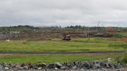 New Gold's Rainy River gold mine under construction 65 km northwest of Fort Frances, Ontario.  Source: New Gold