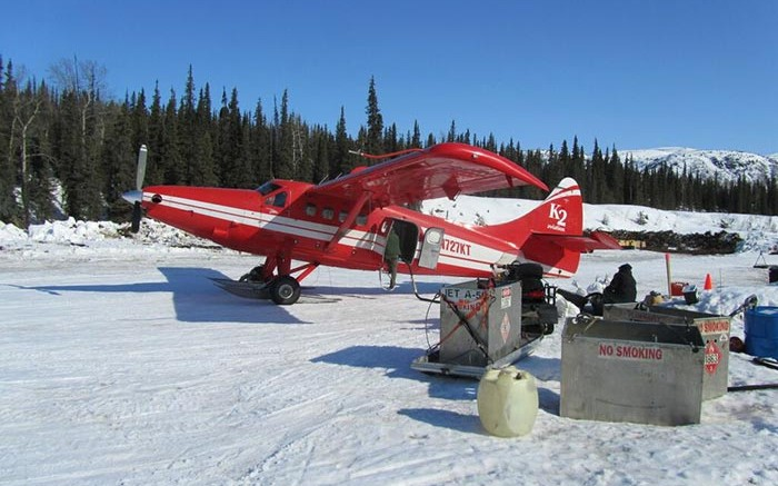 An aircraft at Brazil Resources' newly acquired Whistler gold-silver-copper project in central Alaska.  Source: Brazil Resources