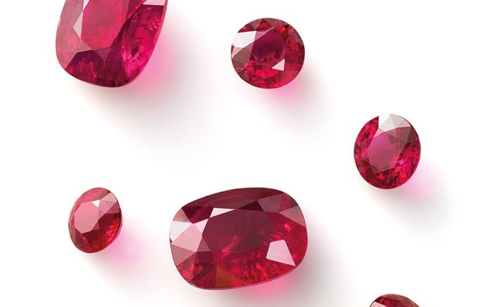 Cut and polished rubies from Gemfields' 75%-owned Montepuez ruby project in Mozambique. Source: Gemfields