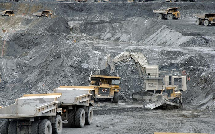 A shovel loads a haul truck in the pit at Centerra Gold's Kumtor gold mine in the Kyrgyz Republic.   Source: Centerra Gold