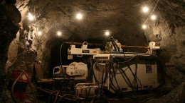 A drill rig underground at Rambler Metals & Mining's Ming copper-gold mine in Newfoundland. Credit: Rambler Metals and Mining