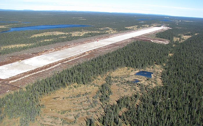 An airstrip at Strateco Resources' Matoush uranium project in Quebec's Otish Mountains region. Source: Strateco Resources