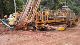 Drillers at work at Endeavour Mining's Agbaou gold mine, 80 km south of Yamoussoukro, Cte d'Ivoire. Source: Endeavour Mining