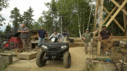 The Shotgun Exploration crew at the Straw Lake Beach gold mine in northwestern Ontario - the setting for mining reality TV show Fool's Gold. Source: Discovery