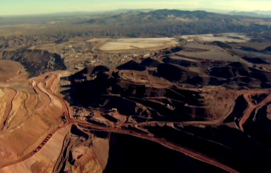 A screen shot of a Freeport McMoRan promotional video on American copper mines. Source: Freeport McMoRan