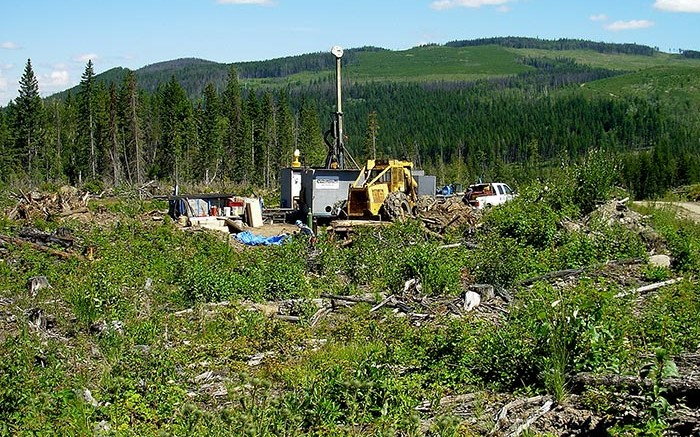A drill rig in 2011 at Gold Fields and Consolidated Woodjam Copper's Woodjam copper-gold project in British Columbia. Source: Consolidated Woodjam Copper