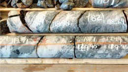 Drill core from the Jubilee zone at Red Pine Exploration's Wawa gold project in Ontario. Credit: Red Pine Exploration