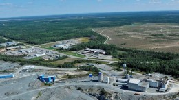 Looking southeast at Integra Gold's historic Sigma gold project in Val-d'Or, Quebec. Source: Integra Gold