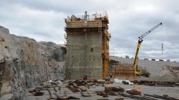 The crusher under construction at Stornaway Diamond's Renard project in Quebec's James Bay region. Source: Stornaway Diamond