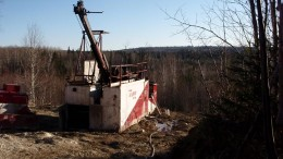 A drill rig in 2010 at Northern Gold's Golden Bear gold project in northeastern Ontario. Credit: Northern Gold