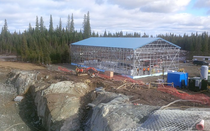 A garage currently under construction near the Triangle Zone deposit at Integra Gold's Lamaque gold project near Val-d'Or, Quebec. Credit: Integra Gold