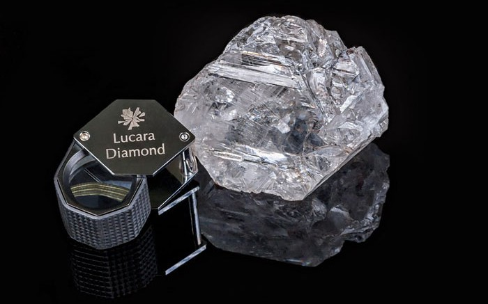 Lucara Diamond's  1,111 ct gem diamond, considered the second largest in history and the biggest in a century. Credit: Lucara Diamond