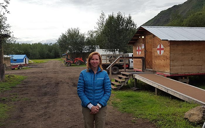 Kaminak Gold president and CEO Eira Thomas at the Coffee gold project camp, 130 km south of Dawson City, Yukon. Photo by Matthew Keevil.