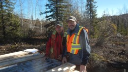 Al Sexton (left), project manager, and Joseph Campbell, TerraX Minerals' president and CEO, at the Yellowknife City gold project in the Northwest Territories.  Credit: TerraX Minerals