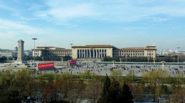 The Great Hall of the People at the western edge of Tiananmen Square in China's capital Beijing. Photo by Zheng Zhou.
