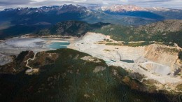 An aerial view of Imperial Metals' 50%-owned Huckleberry open-pit copper mine in west-central British Columbia, which was suspended this month. Credit: Huckleberry Mines