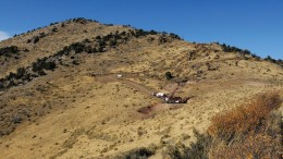 A drill site at Gold Standard Ventures' Pinion gold project in northern Nevada.  Credit: Gold Standard Ventures