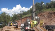Drillers working at Arizona Mining's Taylor zinc-lead-silver deposit, 80 km southeast of Tucson. Credit: Arizona Mining