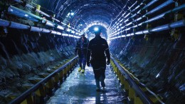Workers at Cameco's Cigar Lake uranium mine in Saskatchewan.  Credit: Cameco