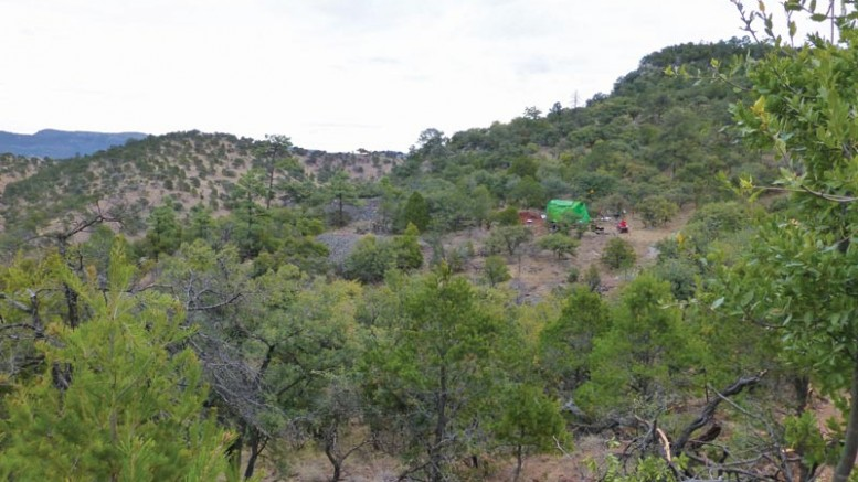 A drill site at Orex Minerals and Canasil Resources' Sandra-Escobar silver project in Mexico.Photo by Ben Whiting