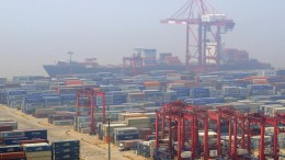 The Yangshan deepwater port in Hangzhou Bay, south of Shanghai. Credit: Jacus