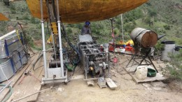 A driller at Almaden Minerals' Ixtaca gold-silver project in Mexico. Analyst Brent Cook commended the firm for its disclosures about the project.Credit: Almaden Minerals
