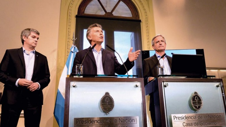Argentina's President Mauricio Macri. Credit: The presidency of Argentina