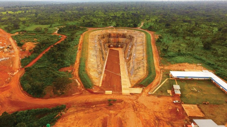 The completed box cut at Ivanhoe Mines and Zijin Mining Group's Kamoa copper project in the Democratic Republic of the Congo.  Credit: Ivanhoe Mines