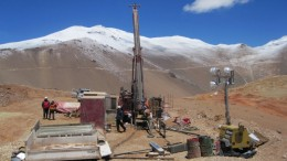 Drilling at NGEx Resources' Los Helados property in Chile in 2014. Credit: NGEx Resources