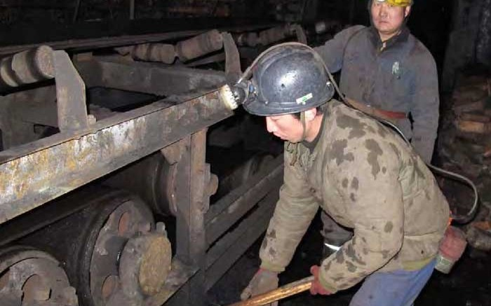 Workers at China Coal's Mei Feng coal mine. Source: China Coal