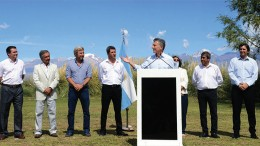 Argentina's President Mauricio Macri announcing a mining tax cut in San Juan province last month.Credit: The Presidency of Argentina