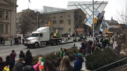 The 2016 St. Patrick's day parade in Toronto. Photo by Northern Miner staff.